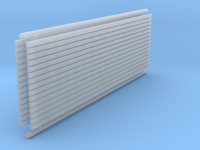 N Scale 15x Ladder 60mm in Smooth Fine Detail Plastic