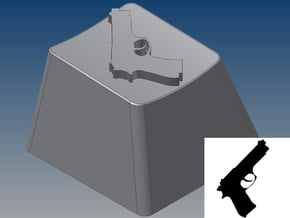 Pistol Keycap (R4, 1x1) in White Natural Versatile Plastic