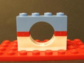 Arch Brick Reversed 4 x 2 x 1 in White Natural Versatile Plastic