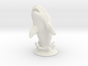 Jumping Great White Shark Table prop in White Natural Versatile Plastic