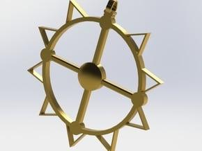Sun God in Polished Bronzed Silver Steel
