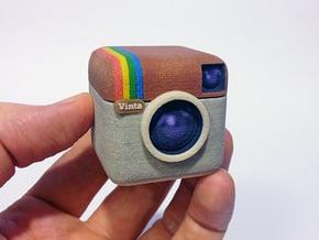 Instagram Style 3D Camera in Full Color Sandstone