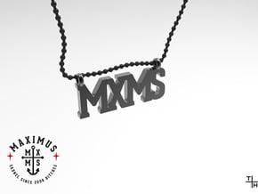 Necklace: MXMS in Matte Black Steel