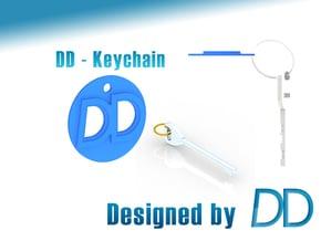 DD - Logo Keychain in Blue Processed Versatile Plastic