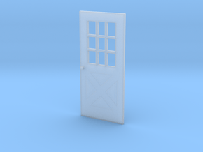 1:64 scale Exterior door with cross pattern in Smooth Fine Detail Plastic