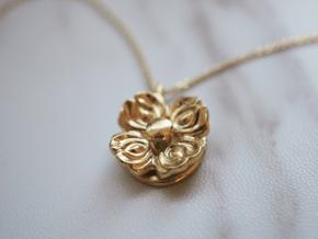Floral Spinner Pendant in Natural Brass (Interlocking Parts)