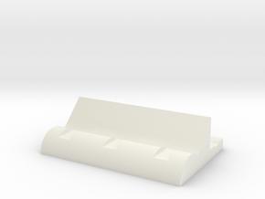 Combination cutlery rack (1) in White Natural Versatile Plastic