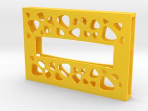 "Card Holder ""Marsupilami"" in Yellow Processed Versatile Plastic: Extra Large"