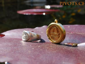 4 Elements - Water Pendant in Natural Brass