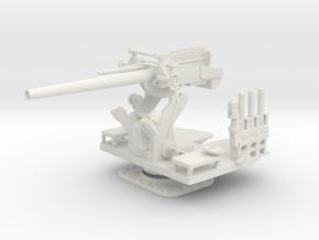 1/30 5 inch 25 (12.7 cm) Deck AA Gun KIT in White Natural Versatile Plastic