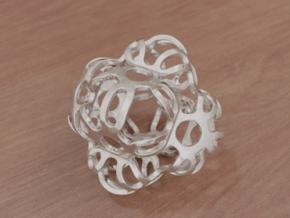 Symmetrically Deformed Cuboid in White Natural Versatile Plastic: Medium