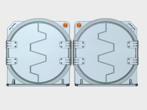 Blank : Deimos APC Round Doors in Smooth Fine Detail Plastic