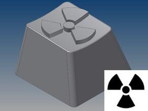 Radioactive Keycap (R4, 1x1) in White Natural Versatile Plastic