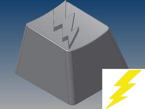Lightning Bolt Keycap (R4, 1x1) in White Natural Versatile Plastic