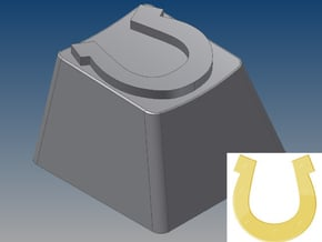 Horseshoe Keycap (R4, 1x1) in White Natural Versatile Plastic