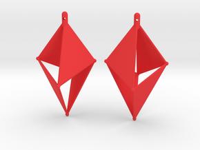 Follyeder Earrings in Red Processed Versatile Plastic