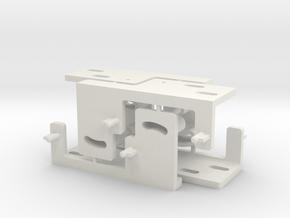 Railroad point, switch, turnout Servo Bracket x 4 in White Natural Versatile Plastic