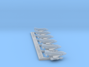 Omni Scale Federation F-4 Ground-Based Fighters MG in Smooth Fine Detail Plastic