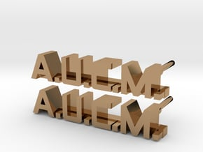 ALIENS: AUCM Enlisted Collar Pin Badge Set in Polished Brass