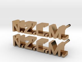 ALIENS: NZCM Enlisted Collar Pin Badge Set in Polished Brass
