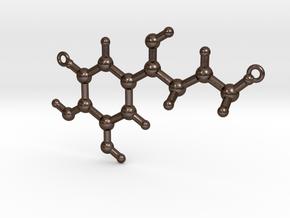 Adrenalin Pendant in Polished Bronze Steel