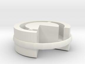 Headphone cable in White Natural Versatile Plastic