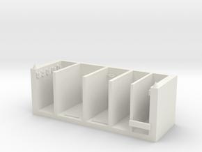Stationery classification box in White Natural Versatile Plastic