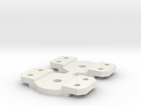 Walthers bolster in White Natural Versatile Plastic: Medium
