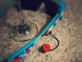 Martini Glass Ear Bud Cover for GLASS in Red Processed Versatile Plastic