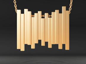 Staggered Vestige in Polished Gold Steel