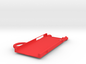Cat Ears Case with Left Tail for Sony Xperia XA1 in Red Processed Versatile Plastic