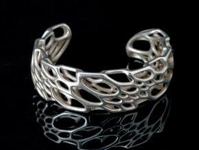 Bone Cuff in Polished Bronzed Silver Steel: Medium