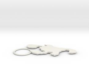 Scorpion style in White Natural Versatile Plastic: Medium