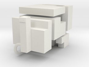 "5 elements for knot cube puzzle ""Medium"" in White Natural Versatile Plastic"