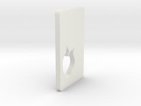 Serpent Door in White Natural Versatile Plastic
