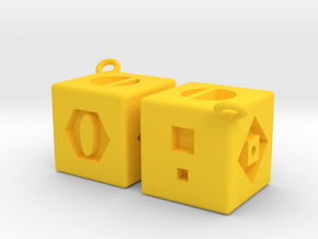 Smuggler's Dice in Yellow Processed Versatile Plastic