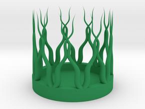 Natural Coaster in Green Processed Versatile Plastic: Medium