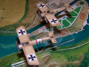 Fokker E.III (various scales) in White Natural Versatile Plastic: 1:144