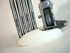 Designer's Pebble in White Natural Versatile Plastic