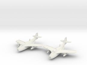 "Saab J 29F Tunnan ""Late version"" Pair 1/285 6mm in White Natural Versatile Plastic"