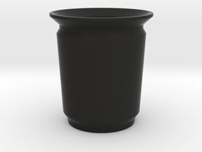 Modern Pencil Cup - Med / Desk Accessories in Black Natural Versatile Plastic