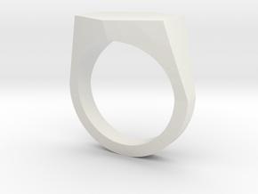 hexagon customizable ring in White Natural Versatile Plastic