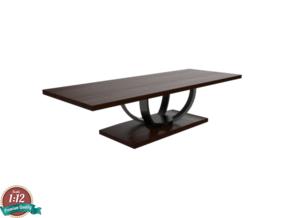 Miniature Dining Table 559-303 - Century in White Natural Versatile Plastic: 1:12