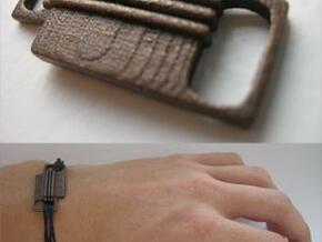 Tied down || Simple bracelet in Polished Bronzed Silver Steel