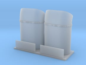 Bell 212-412 1/35 Bended Exhausts in Smooth Fine Detail Plastic