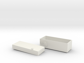 Japanese style wind box in White Natural Versatile Plastic