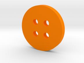 Simple Circle Button in Orange Processed Versatile Plastic