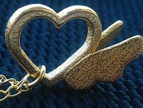 Sheryl heart trinket version 2 in Polished Gold Steel