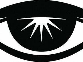 Eyerise Pendant (Large) in White Natural Versatile Plastic