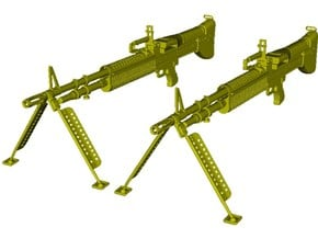 1/24 scale Saco Defense M-60 machineguns x 2 in Smooth Fine Detail Plastic